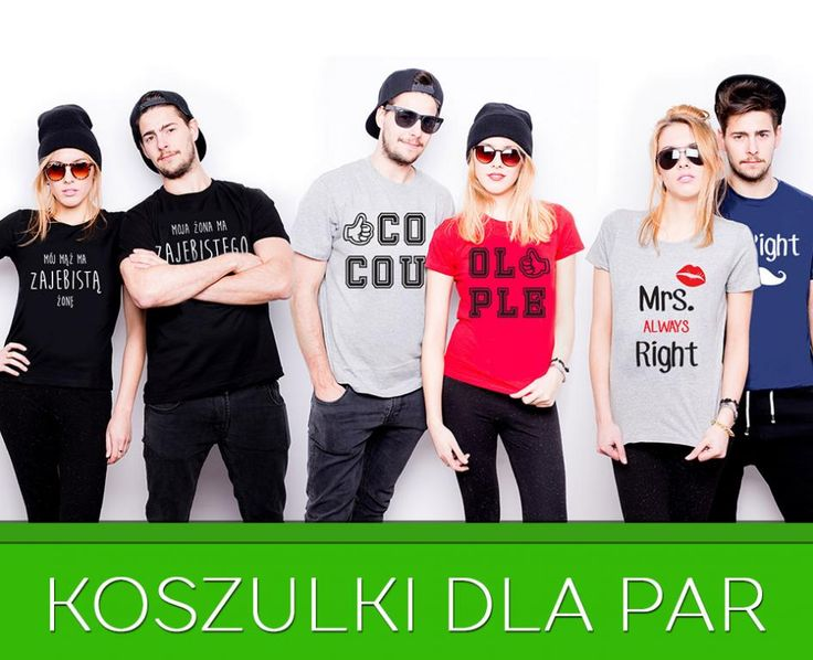 ZESTAW KOSZULEK DLA PAR T-shirt damski i męski L