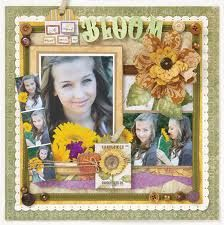 scrapbook with fabric - Google Search