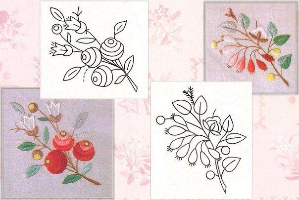 patrones para bordar flores-5