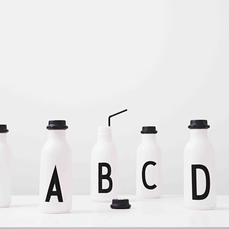 Our new drinking bottles from A-Z are soon arriving in the shops! Design Letters + Arne Jacobsen