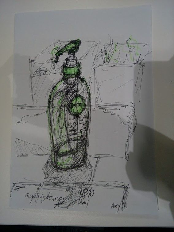 Ink And Highlighter Sketch Dettol Hand Sanitizer Sionnan Joy