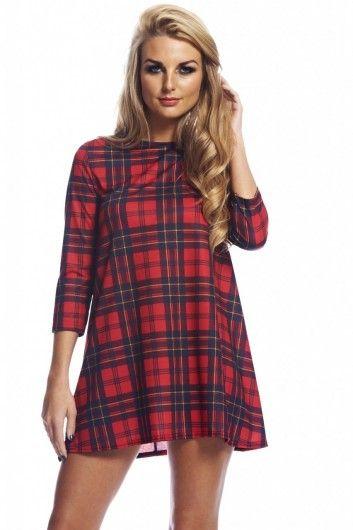 Tartan Flow Dress- £25.00 <3 http://www.axparis.com/products/Tartan-Flow-Dress.html