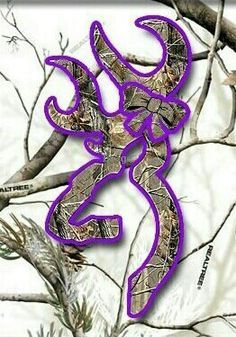 Cute Browning symbol on Realtree background