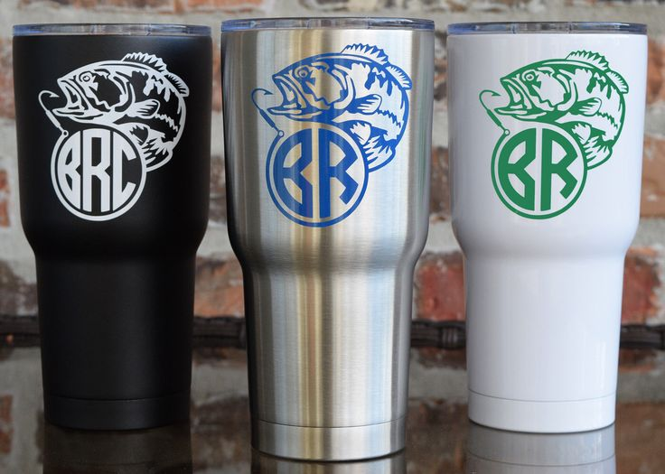 17 best images about sic glacier tumbler 30 oz with for Fishing yeti decal