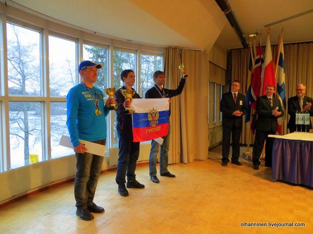 Чемпионы мира Иван Евдокимов, Денис Новгородский, Сеппо Понни