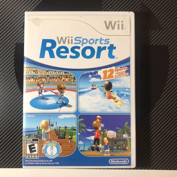 Wii sports resort Complete in box Wii sports resort, Wii