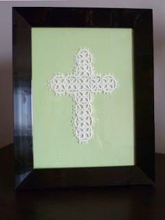 #easter #cross #tatting Niezwykła Projektownia