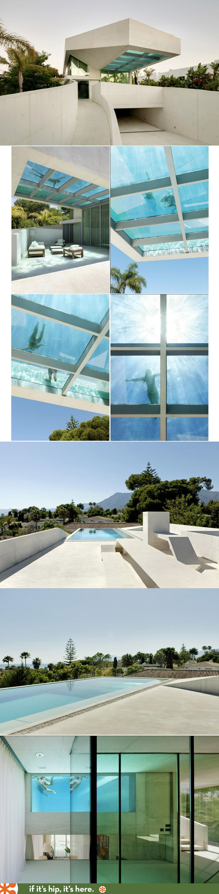 Cant have a cool pool board without the rooftop transparent bottom pool at the