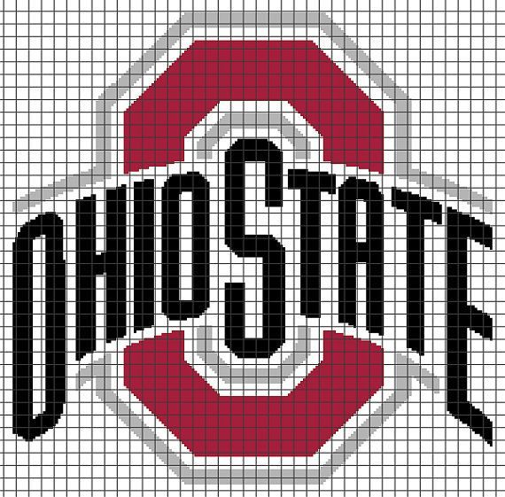 <b>Ohio</b> <b>State</b> Buckeyes Crochet Graphghan <b>Pattern</b> (Chart/Graph AND Row-by ...