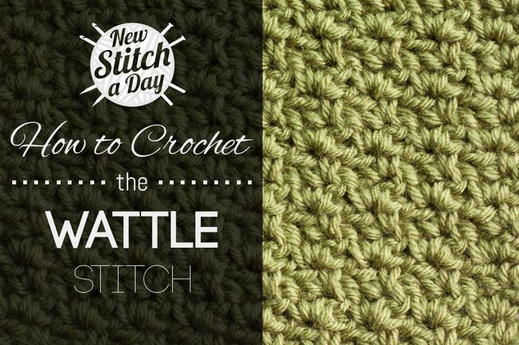Crochet Stitches Counting : to Crochet the Wattle Stitch Crochet Pinterest Count, Stitches ...