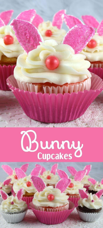 Bunny Cupcakes Adorable Delicieux Et Tres Facile A Faire Nous Promettons Que Tout Le Monde Peut Chocolat De Paques Easter Dessert Table Easter Cakes Easter Dessert