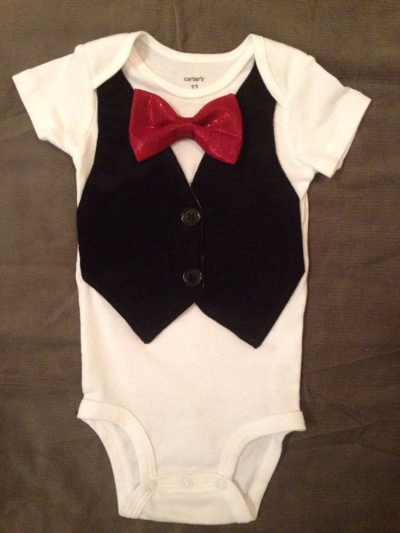 August - Baby Boy Clothes - Newborn Outfit - Baby Shower Gift - Trendy - Preppy - Vest - Bow tie - Photo Prop