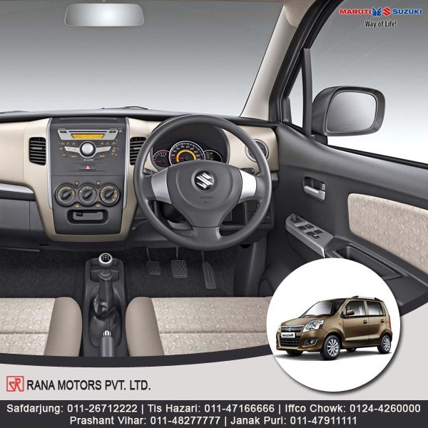 Maruti Suzuki WagonR - A true family hatchback that comes with great fuel efficiency. http://www.ranamotors.co.in/toolkit/maruti-suzuki-wagonr-en-in.htm  Contact Numbers:- Safdarjung: 011-26712222 Prashant Vihar: 011-48277777 Iffco Chowk: 0124-4260000 Tis Hazari: 011-47166666 Janak Puri: 011-47911111  #MarutiSuzuki #WagonR #HatchBack #Car #RanaMotors #NewDelhi #Gurgaon