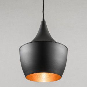 Hanglamp Depeche 3 zwart met goud - Lampenlicht.nl