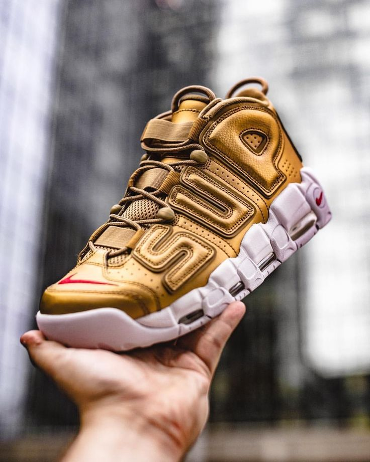 941aecbbc68a Mens size Nike UPTEMPO Supreme Metallic Gold unauthorized shoes in 2019