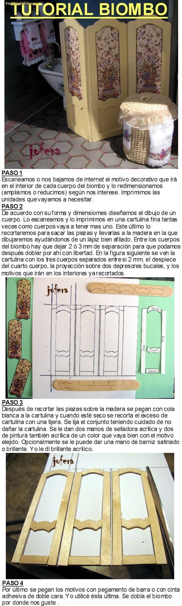 Foro de casas de muñecas y miniaturas :: Ver tema - Un Biombo sencillo