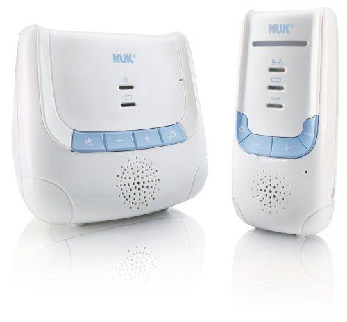 NUK Babyphone Eco Control DECT 266 mit Full Eco Mode; 100% frei von hochfrequenter Strahlung im Stand-by Qualitätsurteil GUT Stiftung Warentest 5/2011