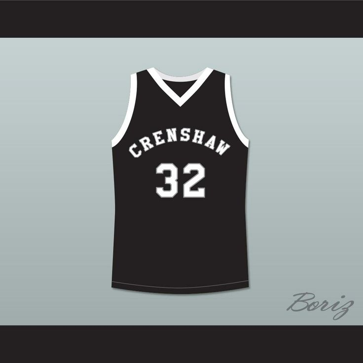 """Monica Wright 32 Crenshaw High School Black Basketball Jersey Love and Basketball. STITCH SEWN GRAPHICS  CUSTOM BACK NAME CUSTOM BACK NUMBER ALL SIZES AVAILABLE SHIPPING TIME 3-5 WEEKS WITH ONLINE TRACKING NUMBER Be sure to compare your measurements with a jersey that already fits you. Please consider ordering a larger size, if you prefer a loose fit. HOW TO CALCULATE CHEST SIZE: Width of your Chest plus Width of your Back plus 4 to 6 inches to account for space for a loose fit. Example: 18""""…"""