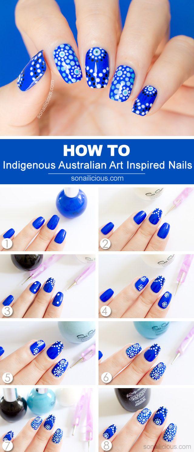 Indigenous Australian Art Inspired Nails – Tutorial