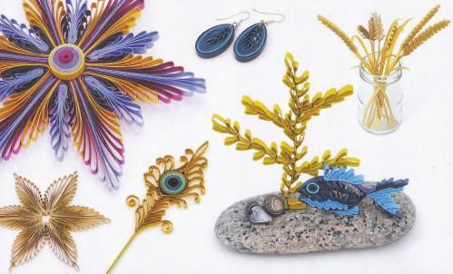 Was ist Quilling? Mehr dazu im Blog.  Kamm-Quilling Ideen: Mit Quilling können alle Formen, Tiere, Blumen usw. geformt werden.