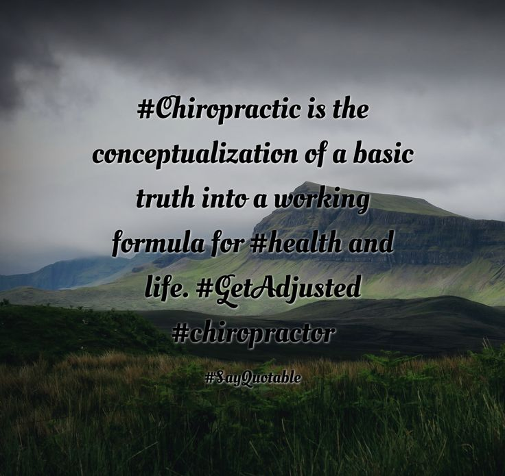 Quotes about #Chiropractic is the conceptualization of a basic truth into a working formula for #health and life.   #GetAdjusted #chiropractor with images background, share as cover photos, profile pictures on WhatsApp, Facebook and Instagram or HD wallpaper - Best quotes