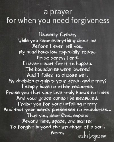 a prayer of forgiveness - when you need that second chance..or the third or fourth