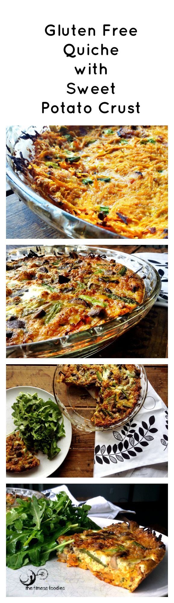 Get the recipe for this grain, gluten, dairy free quick at: http://thefitnessfoodies.com/?p=935.   Paleo Quiche.  Whole30 Quiche.