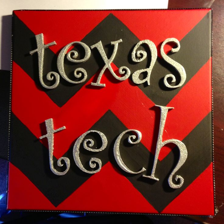 beRedRaider ~ Ŧ Texas Tech Red Raiders ~ Chevron background w/ Glittery Texas Tech ~ {DIY} Wall Art