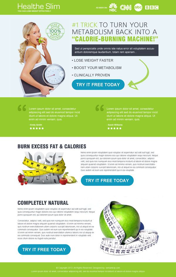 10 best health and fitness landing page design images on ...