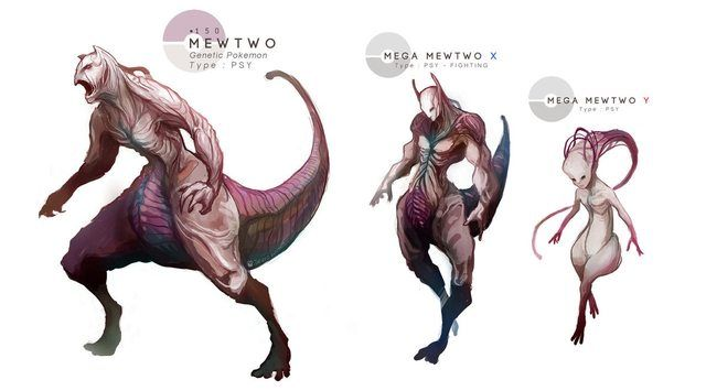 Things just got real mewtwo pokemon lifelike creepy toonusa anime creepy pok mon - Mewtwo evolution ...