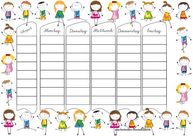 Stundenplan Grundschule Zum Ausdrucken Stundenplan Vorlage Grundschule Stundenplan Vorlage Stundenplan