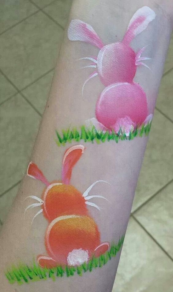 Cute Bunny Butts   DIY Face Painting Ideas for Kids   Easter Face Painting Ideas for Kids