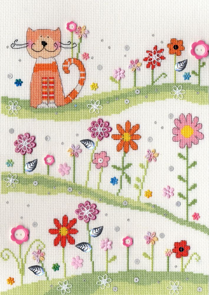 Daisy Cross Stitch Aida 14 Count Fabric
