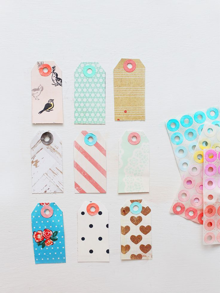 DIY: patterned gift tags