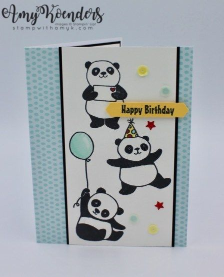 Stampin' Up! Party Pandas Birthday Card – Stamp With Amy K