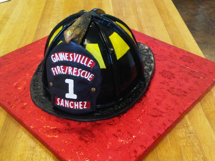crazy detail! firefighter grooms cake by:For Goodness Cakes