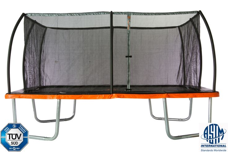 10' x 7.5' Rectangle Trampoline & Safety Net Enclosure