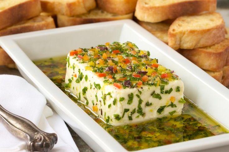 Fresh Herb-Marinated Feta - A Fabulous Make-Ahead Appetizer!