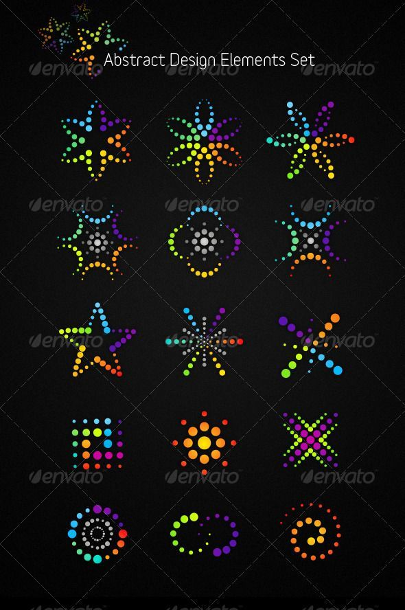 Abstract Vector Design Elements Set $5 – #Abstrac…