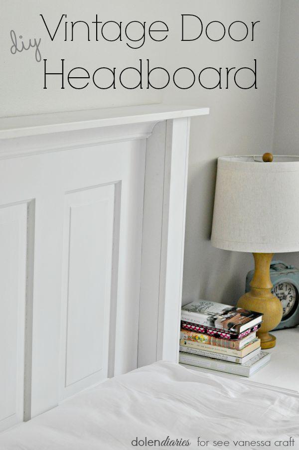 Vintage Door Headboard 100