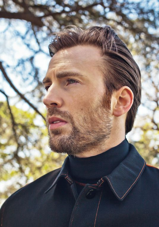 Chris Evans photographed by Paul Jasmin for L'Uomo Vogue (2017)