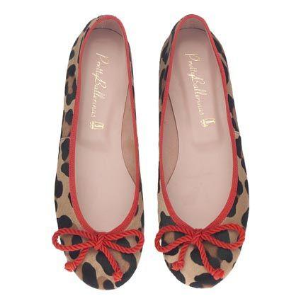 Pretty Ballerinas big leopard print and red