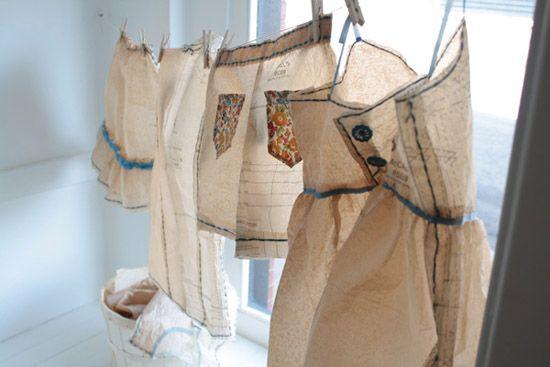 .Lunenberg Makery, Paper Clothing, Nova Scotia, Paper Dresses, Sewing Pattern, Paper Pattern, Paper Art, Paper Sculpture, Windows Display