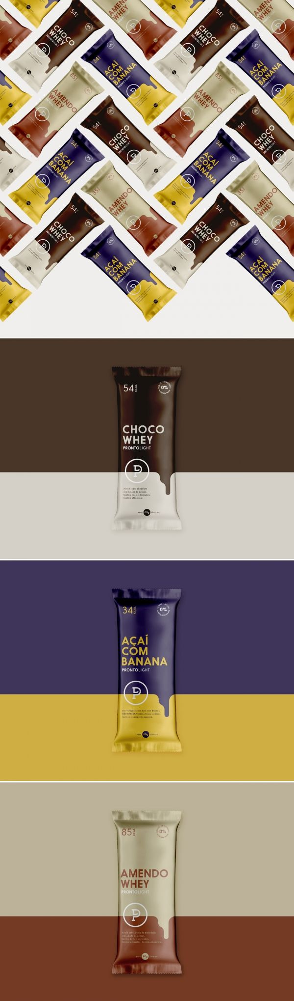 Packaging design to new line of Pronto Light Ice Cream