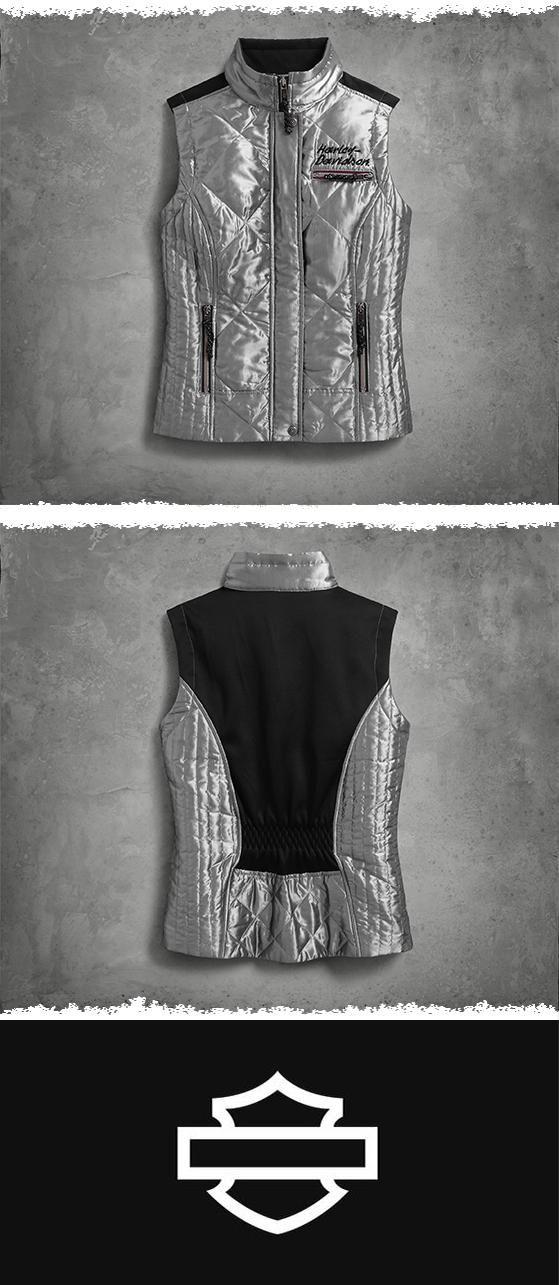 Versatile outerwear for everywhere. | Harley-Davidson Women's Breezeway Puffer Vest
