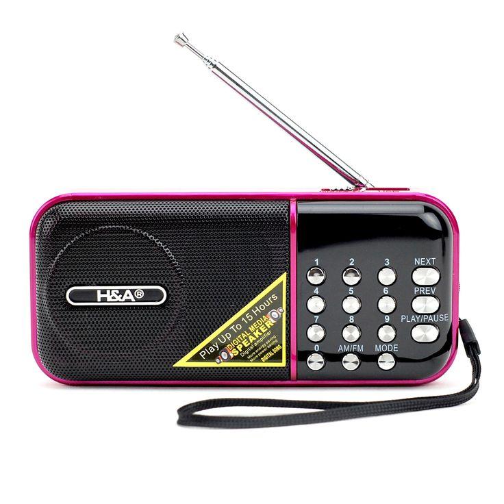 Small Portable Radio, Best Digital Pocket Mp3 Radio Player With Am Fm (pink)