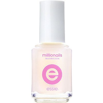 """""""During the summer I like clear nail polish for my fingers. I use Essie's Millionails because it's fortified with iron and amino acids and makes my nails super strong."""" – Nora Milch, Accessories Editor  Essie Millionails Treatment, $10, ulta.com. -Wmag"""