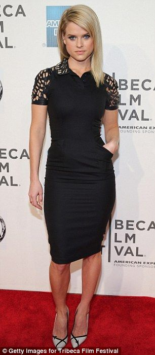 Ready for her close up: Alice Eve looked flawless at the Some Velvet Morning premiere at the Tribeca Film Festival in New York