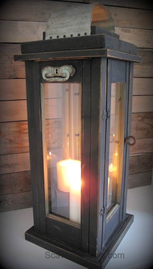 Lantern Diy Upcycled From Old Shutters Outdoor Lights