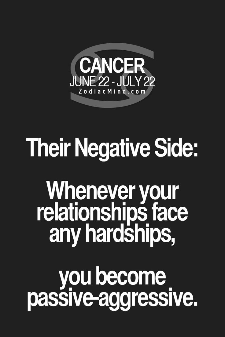 Negative side to Cancer Zodiac Sign ♋